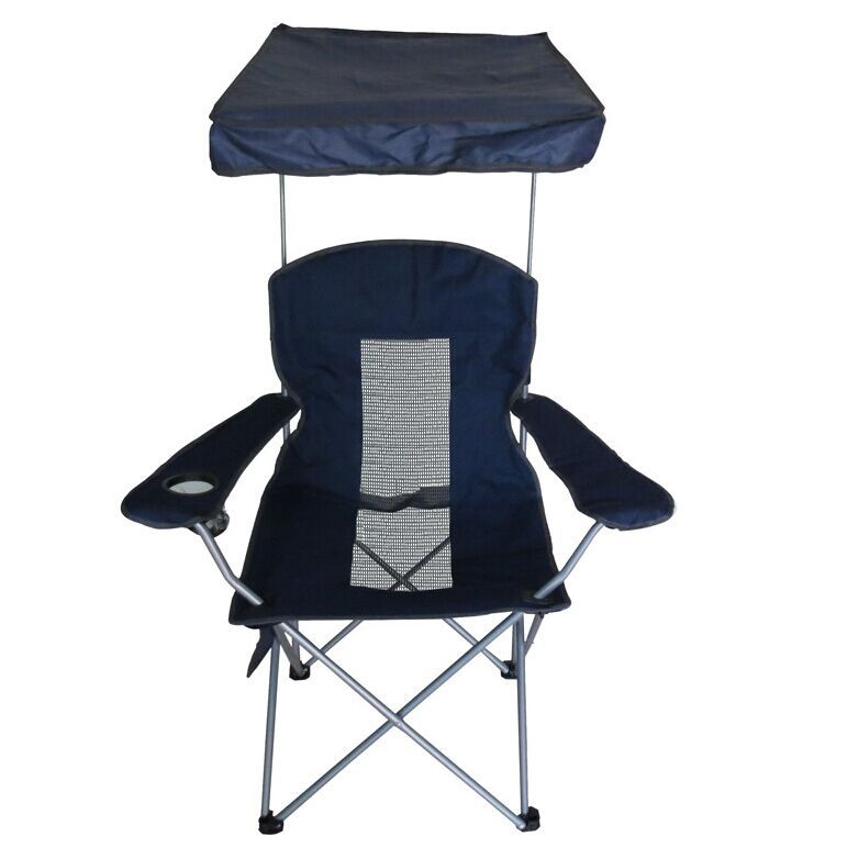 2015 High grade folding beach camping chair with sunshade for fishing beach p
