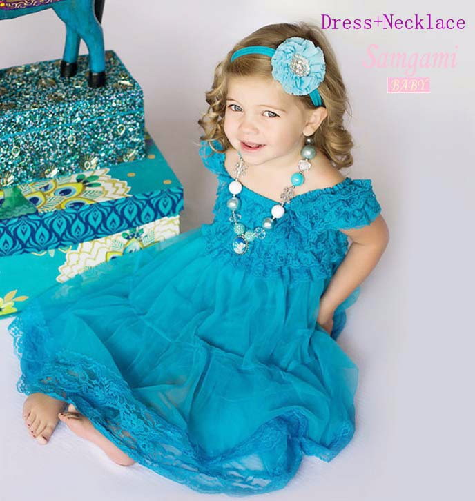 5pcs/lot Turquoise Cinderella Girl Dress Baby Frock Designs Robe Fille Enfant Toddler Girl Clothing Children Kids Clothes(China (Mainland))