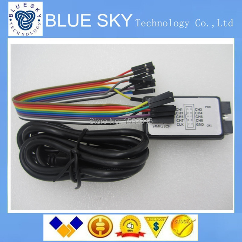 Электронные компоненты USB 24M 8CH 1sets USB 24M 8/, MCU FPGA DSP Arrival USB Logic Analyze 24M 8CH usb logic analyzer scm 24mhz 8 channel 24m seconds logic analyzers debugger for arm fpga usb cable dupont cable