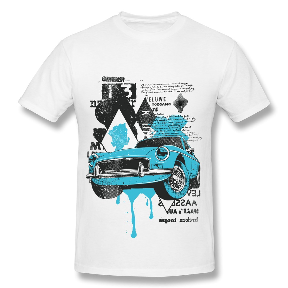 Customize Solid Mens T Shirt Grate type car Funny Picture T-Shirts Men 2014 Brand(China (Mainland))