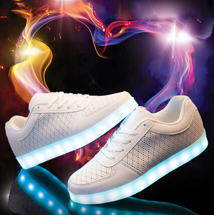 Summer Children run kids LED USB breathable shoes zapatos chaussure super lumineuse enfant boys girls sneakers with light  35-42<br><br>Aliexpress