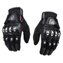 Anti-collision Men Stainless Steel Motorcycle Gloves Black Motocross Gloves Guanti Motorbike Protective Guantes Luvas Para Moto(China (Mainland))
