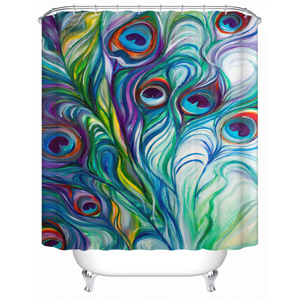 Acceptable Custom DIY A Variety of Colors Waterproof Shower Curtain High Quality Waterproof Bathroom Products Y-004(China (Mainland))