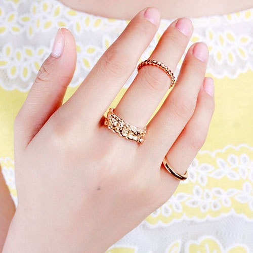Korean Fashion Accessories Women Punk Cool Finger Rings Three Sets Jewelry - Lincy store