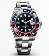 2014 NEW Luxury Brand hombres de GMT MASTER II moda movimiento automático relojes de acero inoxidable reloj de hombre