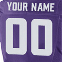 yingyuanFang Men's 97 Michael Griffin #29 Xavier Rhodes 8 sam 55 Anthony 22 Harrison jerseys White purple(China (Mainland))
