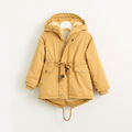 Boy s New Autumn X Long casual Trench Hooded Jacket Male Kid s Cold Winter Lamb