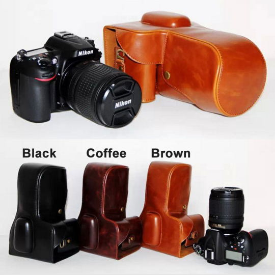 Retra Vintage Leather Digital Camera Bag Case Handbag for Nikon D7000 D7100 D7200 Cover with Strap Protection High Quality(China (Mainland))