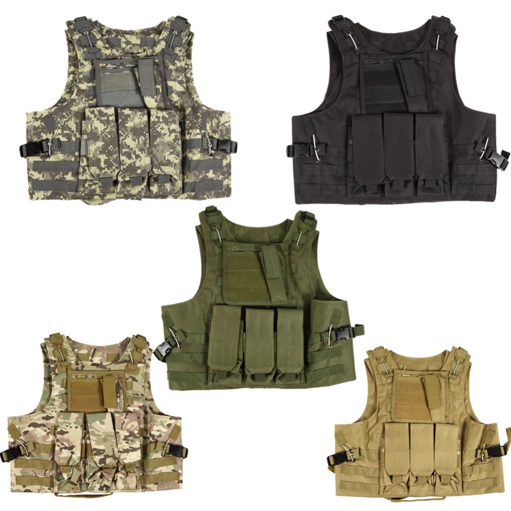 Professional sales USMC Airsoft Tactical Military Molle Combat Assault Plate Carrier Vest Tactical vest 10 Colors CS clothing