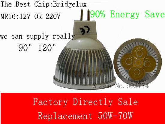 4pcs/lot 9W,10W,MR16 12V GU5.3 Warm White/ Cool White LED Light Led Lamp Bulb Spotlight Spot Light replace 50-70w halogen lamp(China (Mainland))