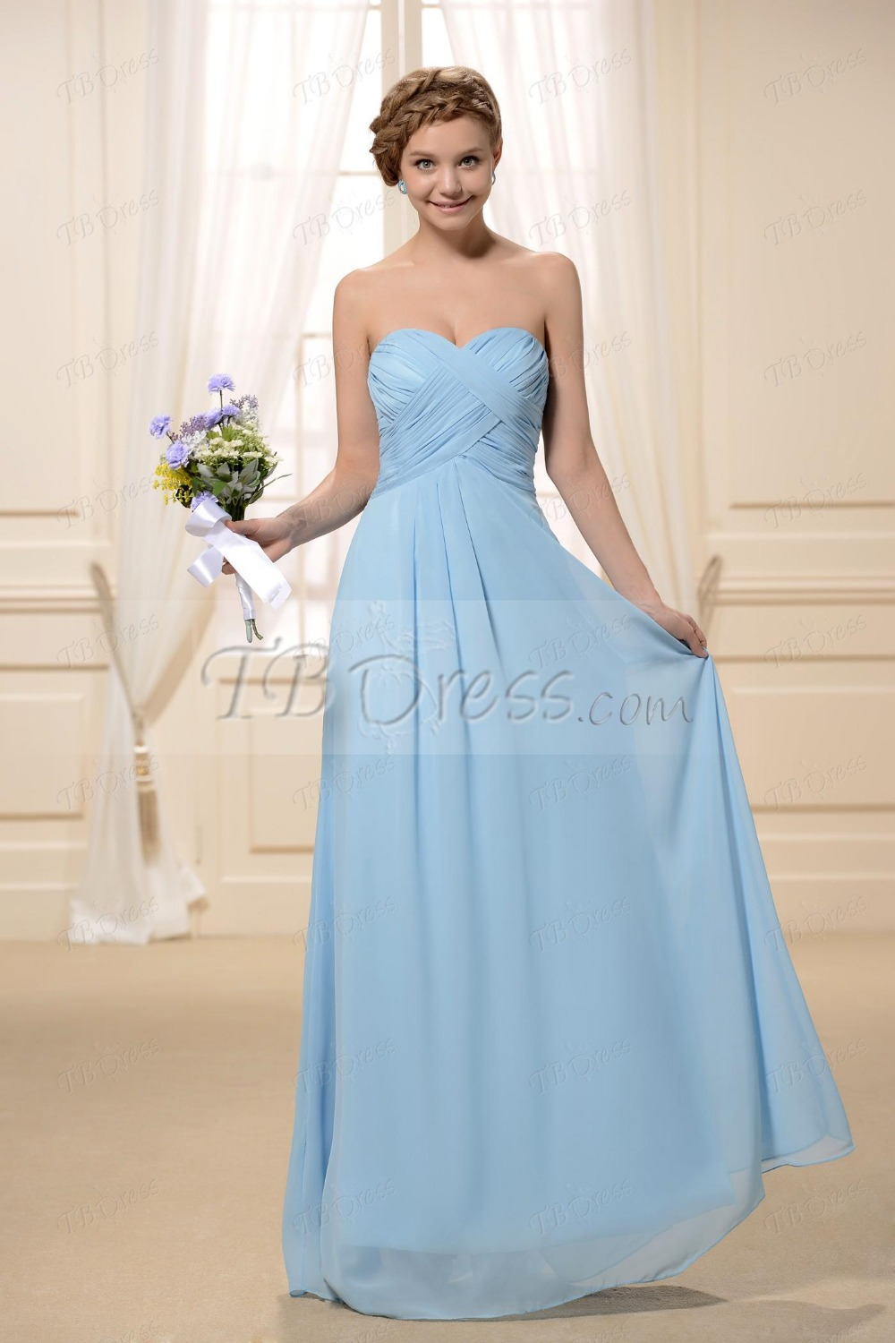 2015 Pleats A Line Sweetheart Neckline Floor Length