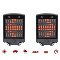 64 leds Rear Laser Bicycle Tail Rechargeable Wireless Remote Bike Turn Signal Safety Warning Light Waterproof