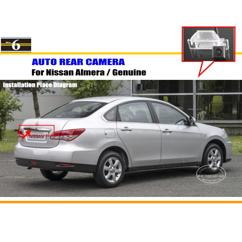 Car Rear View Camera / Back Up Reverse Parking Camera For Nissan Almera / Genuine License Plate Lamp / HD CCD Night Vision<br><br>Aliexpress