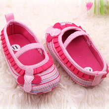 Sweet Newborn Baby Girl Flower Ruffled Shoes Toddler Soft Bottom Crib Walk Shoes Free Shipping