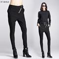 New Europe Casual Stretch Elastic Hip Hop Harem Pants female Leggings High Waist Slim Trousers Black