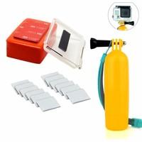 Go Pro Float Gopro Accessories 3M Adhesive Backdoor Case +Go Pro Bobber Floating with Float Sponge FOR Go pro hero 1 2 3