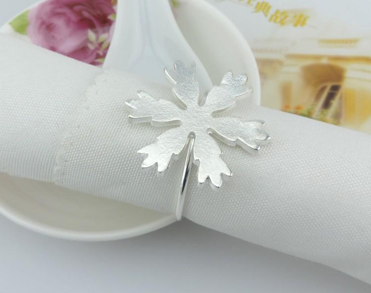 christmas snowflake napkin rings metal buckle napkins napkin rings