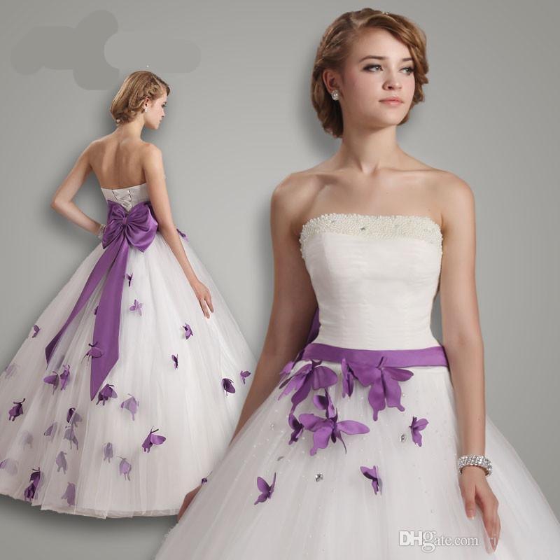 New modern wedding dresses white wedding dresses with purple white wedding dresses with purple mightylinksfo