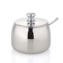 beng mirror stainless steel spice jar sugar bowl with spoon fine stainless steel surface treatment(China (Mainland))