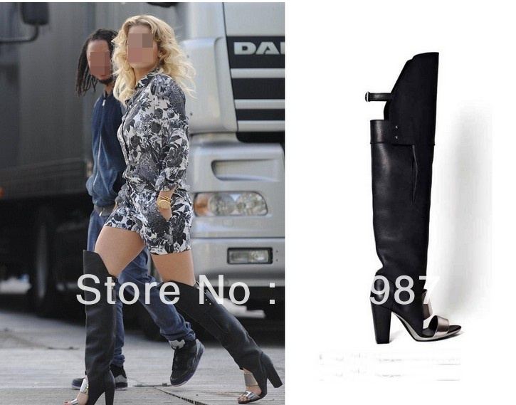 Top brand women sandal boot newly fashion knee high boots - Rose's Boutique store