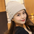 Punk Style Autumn Winter Beanies for Men 3 Pins Women s Hats Fashionable Knitted Bonnets Outdoor