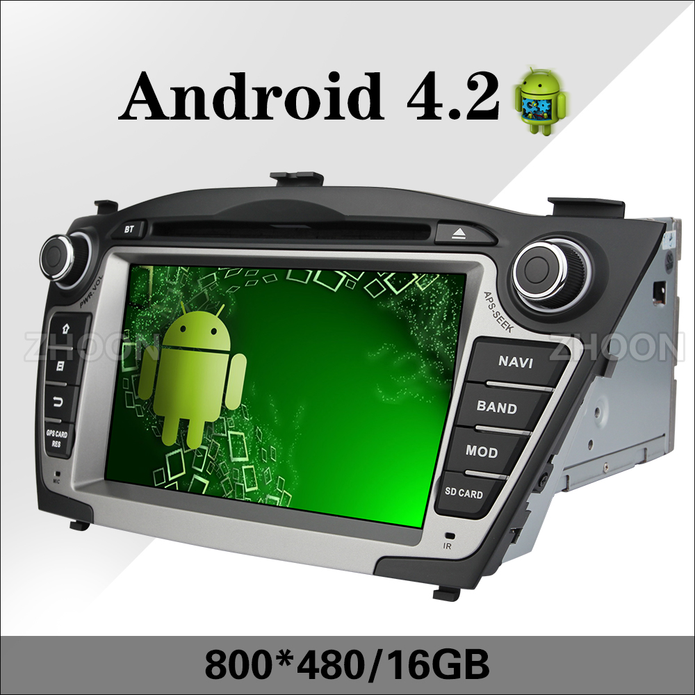 Dual core android 4.2 car dvd 2 din for Hyundai IX35 Tucson 2009 2010 2011 2012 2013 car radio audio stereo navigation player(China (Mainland))