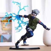 22cm Cool Naruto Kakashi Sasuke Action Figure Anime Puppets Figure PVC Toys Japanese Anime Collection Figure Model