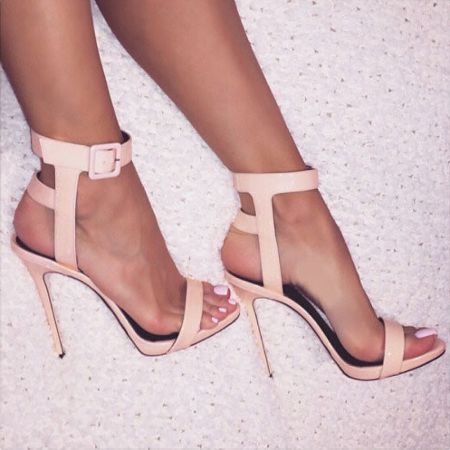 Nude Strappy High Heels | Fs Heel