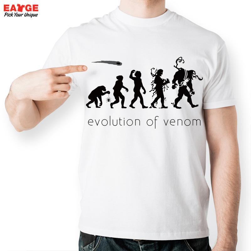 [MASCUBE] Fashion Short Sleeve Men T-shirt Novelty Evolution White O-neck Anime Cartoon tshirt Women Tee(China (Mainland))