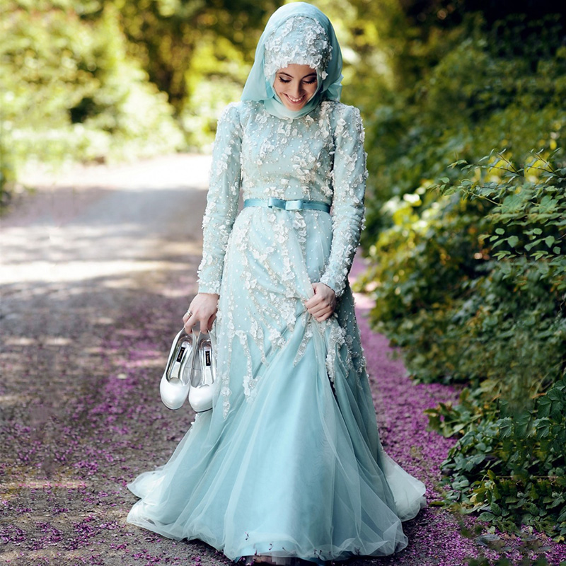Latest Turkish Islamic Evening Dress 2016 Formal