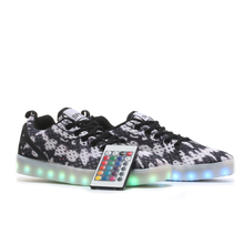 Remote Control Unisex Led Shoes 8 Colors LED Luminous shoes for Men Fashion Light UP LED Shoes plus size 35-46 free shipping(China (Mainland))
