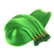 """Роскошные для плетения 22 """"1 г/strand 50 нитей/пакет Ombre серый фиолетовый цвет синтетический предварительно скреплен я Совет Наращивание волос(China)"""