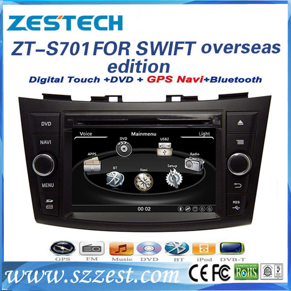 car dvd player Manufacturer Free Shipping for suzuki swift car audio system with dvd/gps/radio/bluetooth/3g/phonebook multimedia(China (Mainland))