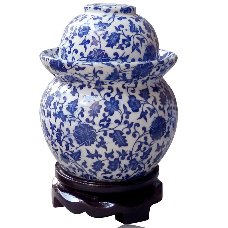 Small Jingdezhen Lead-Free Ceramic Porcelain Pickle Vegetable Jar(China (Mainland))
