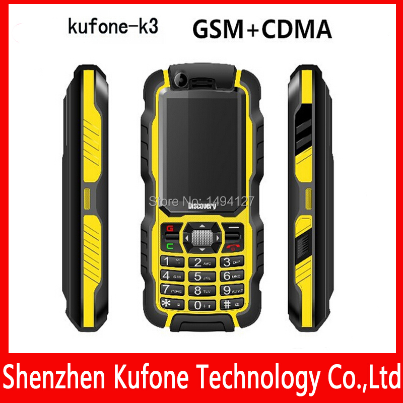 kufone k3 CDMA GSM waterproof phones mobile with gorilla glass dual camera, ip67 military rugged cell phone.(China (Mainland))