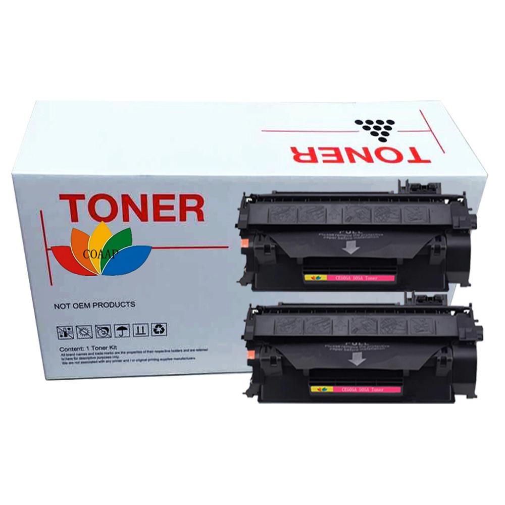 2x CE505A 05A 05 505A 505 BLACK compatible toner cartridge HP Laserjet P2035 P2035N P2055D 2055DN 2055X P2055 Printer