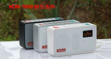 TECSUN ICR-100 TF Card Mini-loudspeaker MP3 Player Radio(China (Mainland))