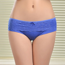 86847 Female Underwear 2014 New Lace Cotton Women's Briefs Panties(China (Mainland))