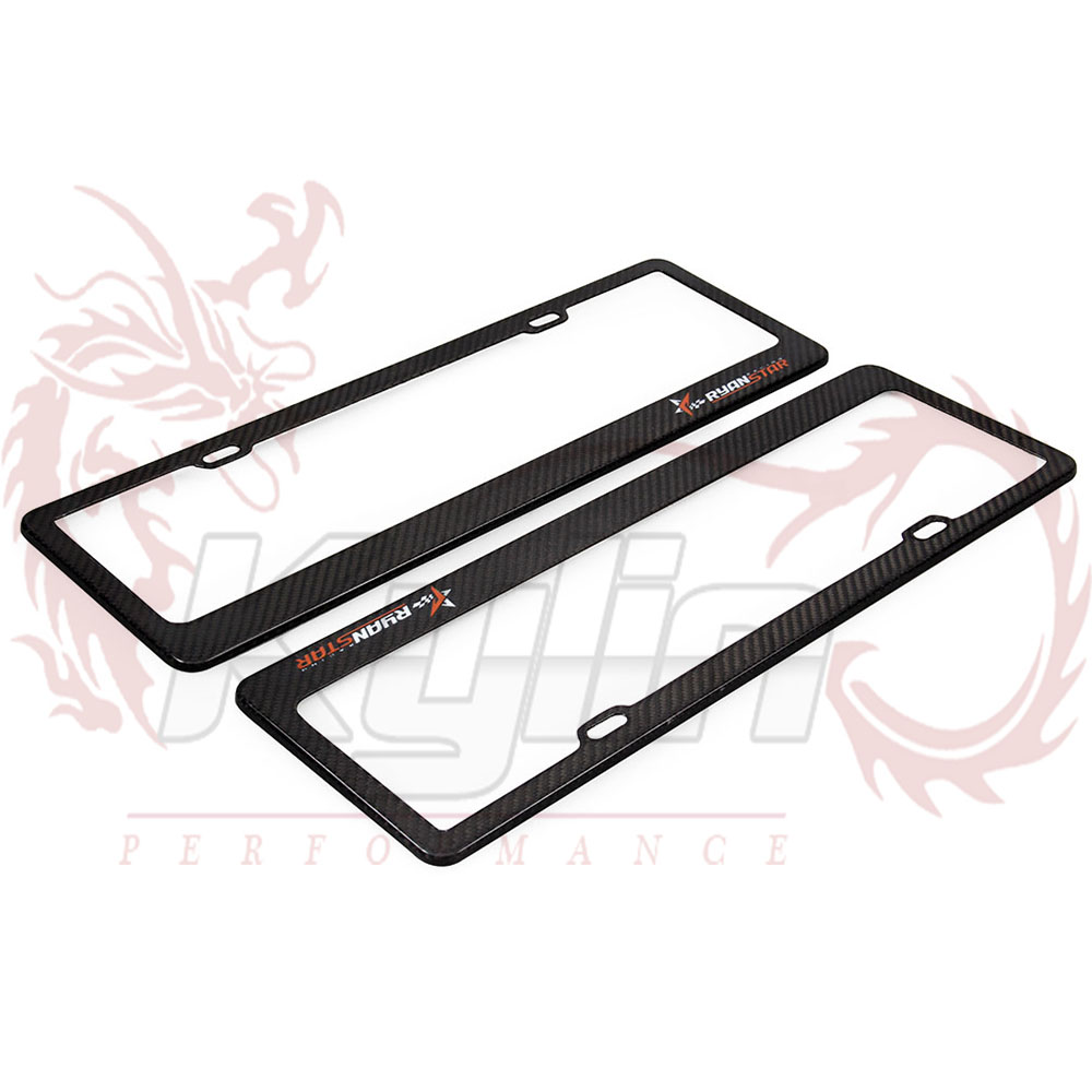 Ryanstar - 2Pcs Universal Carbon Fiber Licence Plate Frame for Chinese Car Length 445mm Height 145mm(China (Mainland))