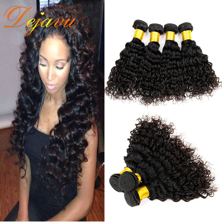 Unice Hair Brazilian Deep Curly Virgin Hair Remy Human Hair Deep Wave Brazilian Virgin Hair 4 Bundles 7A Mink Brazilian Hair