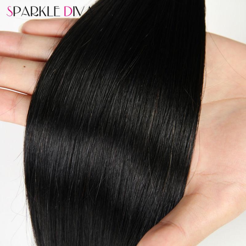 Peruvian Virgin Hair with Closure 3 Bundles Peruvian Virgin Hair Straight With Closure 8A Grade Human Hair Weave with Closure