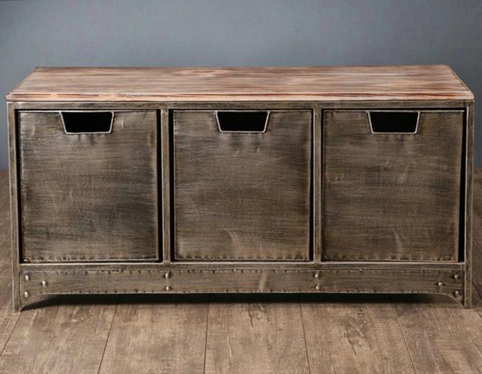 Franse Slaapkamer Meubels : Fer métal tiroirs meuble TV personnalisé ...