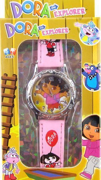 Free shipping DHL Dora Watches Kid Children Cartoon Wrist watch with Giftbox 100pcs/lot<br><br>Aliexpress