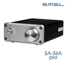 Buy SMSL SA-36A Pro 25W*2 TDA7492PE Digital HIFI Power Amplifier silver color for $47.99 in AliExpress store