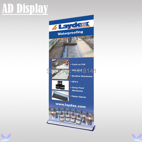 120*200cm Wide Base Aluminum Retractable Roll Up Banner,Pull Up Banner,Advertising Portable Stand,Exhibition Display Equipment(China (Mainland))