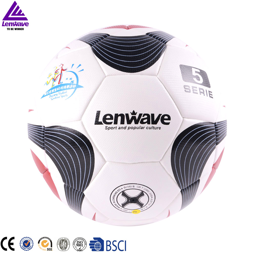 2016 Lenwave Brand Official Match PU Soccer Balls Size 5 Champions football(China (Mainland))