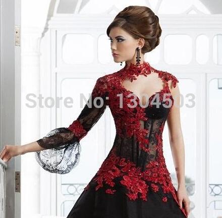 Robe hiver rouge et noire