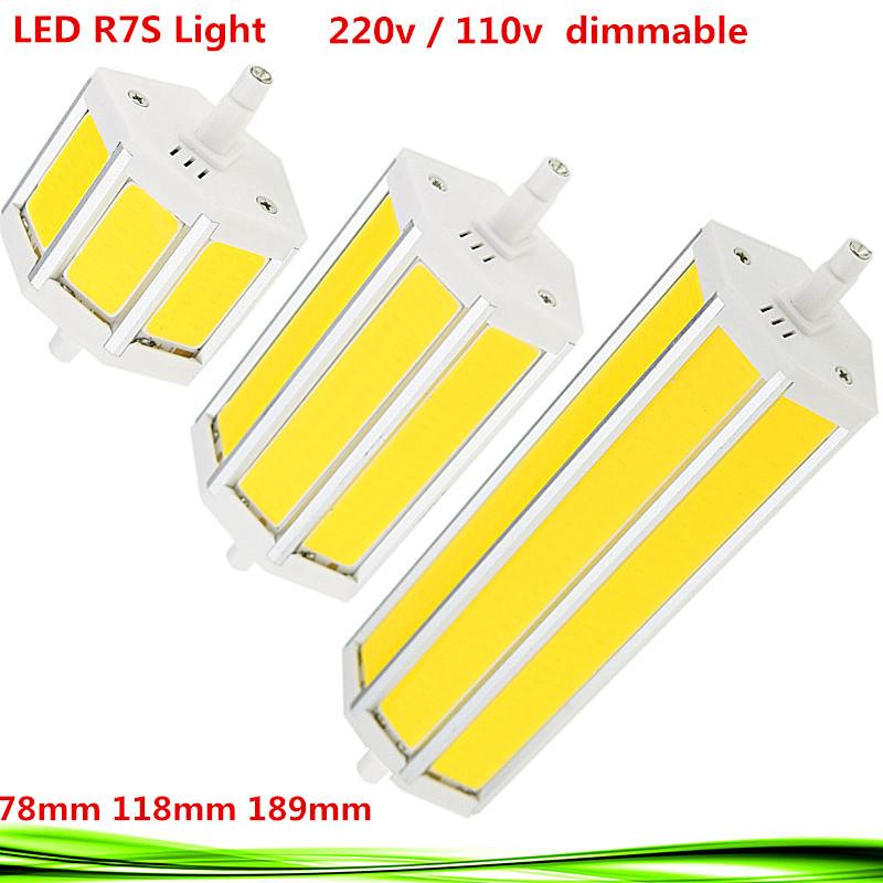 1X LED COB R7S bulb AC110V 220V 10W 15W 20W led r7s 78mm 118mm 189mm led spot light replace halogen Lamps floodlight lampadas(China (Mainland))