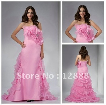 REAL SAMPLE Free Shipping Stunning Organza Prom Dresses Evening Gowns