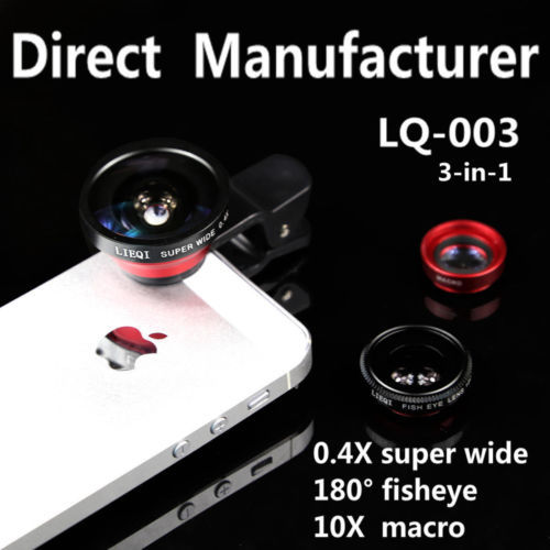 ORIGIANL 0.4X Super Wide Angle&Fisheye+10X Macro Camera Smartphone Lens For iPhone 6/5S/5C/5/4S/For Sony Z3/Z2/Z1/For Huawei P6(China (Mainland))